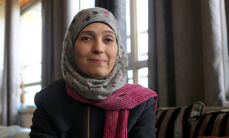 2016 Global Teacher Prize winner Hanan al-Hroub. © 2016 UNRWA Photo by Alaa Ghosheh
