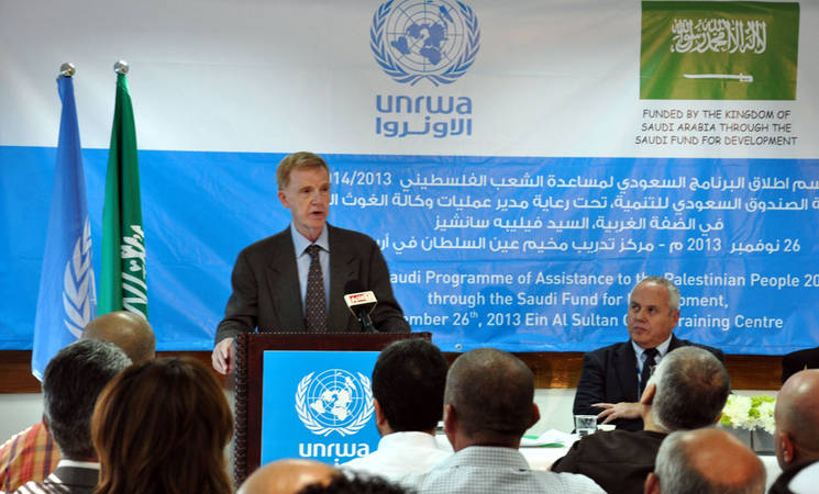 UNRWA and Saudi Arabia Launch West Bank Projects