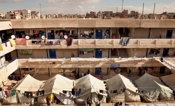 Al-Rameh collective shelter, Jaramana, December 2013