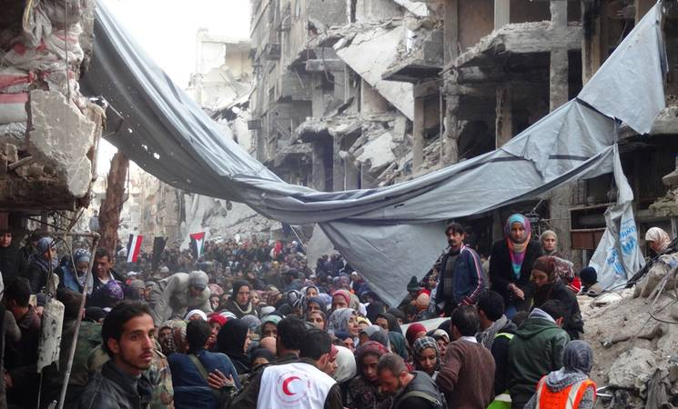 UNRWA successfully delivers aid to Yarmouk