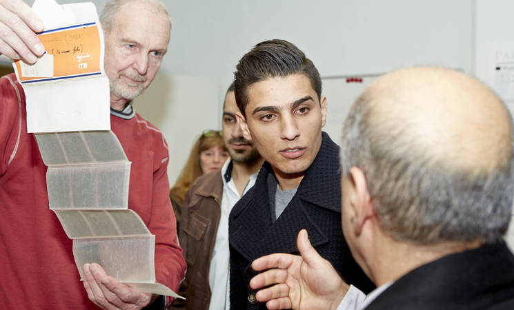 Singer and UNRWA Goodwill Ambassador Mohammed Assaf Visits the Danish Royal Library