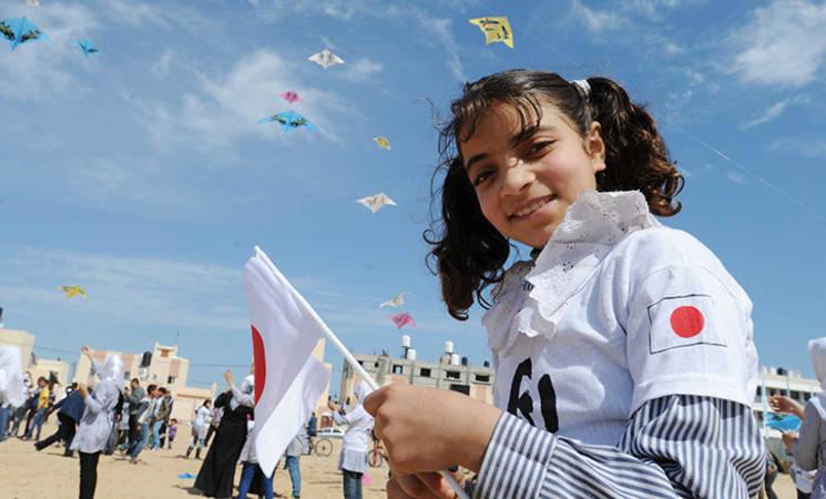 من غزة إلى اليابان، رسالة تضامن