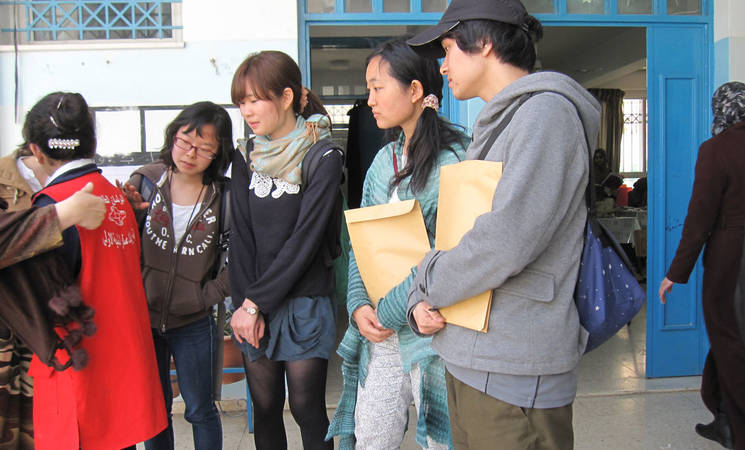 Japanese Students Visit UNRWA Schools and Health Centre
