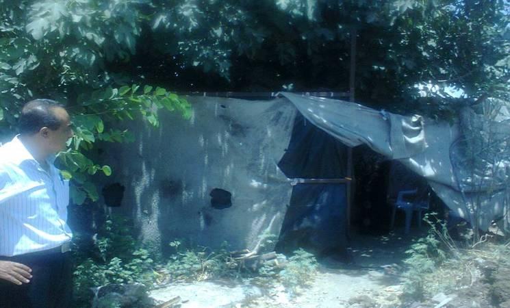 The Abu Ruww family home before UNRWA rehabilitation