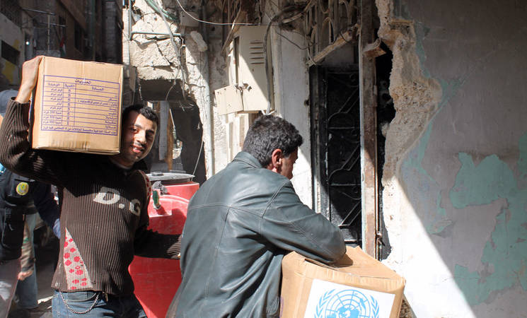UNRWA Staff Union Donates for Yarmouk