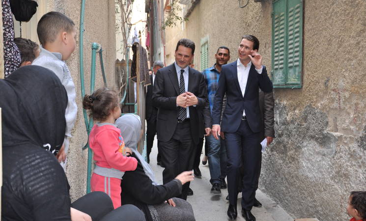 UNRWA Welcomes Austrian Minister to the West Bank