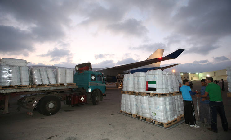 Dubai Begins Humanitarian Airlift for UNRWA in GazaDubai Begins Humanitarian Airlift for UNRWA in Gaza