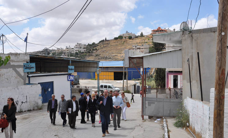 Members of the Advisory Commission (AdCom) of UNRWA visited a number of Palestinian refugee camps and UNRWA installations in the West Bank.