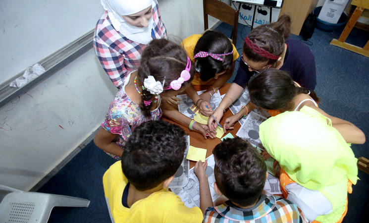 Safe learning space, Damascus, Syria. © 2017 UNRWA Photo by Taghrid Mohammad