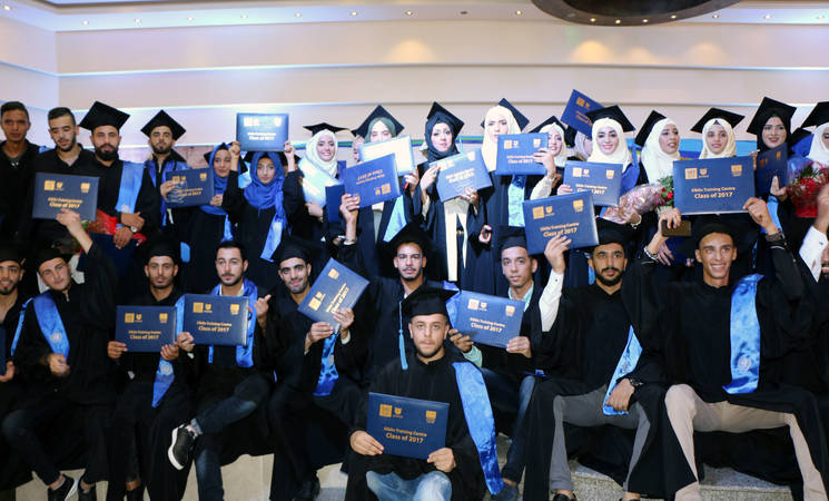 Palestine refugee students graduate from the Siblin Training Centre North Campus, Lebanon. © 2017 UNRWA Photo by Maysoun Mustafa