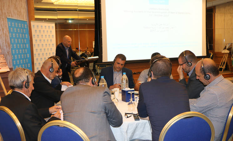 "Speaking at the Nahr el-Bared workshop, the Director of UNRWA Affairs in Lebanon, Claudio Cordone said: ""The NBC project ultimately is about human beings and human dignity, not just buildings. We need to strengthen trust and work together in addressing all aspects of this project."" - © 2017 UNRWA Photo by Maysoun Mustafa"