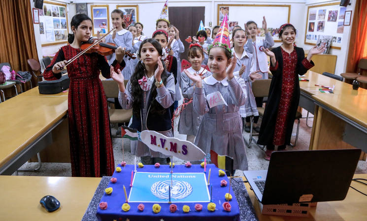 Asma Elementary Coed 'C' School, Gaza. © 2017 UNRWA Photo by Rushdi Al Saraj
