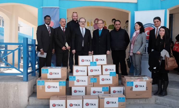 TIKA Contributes Medical Supplies to UNRWA Health Centre in Jordan