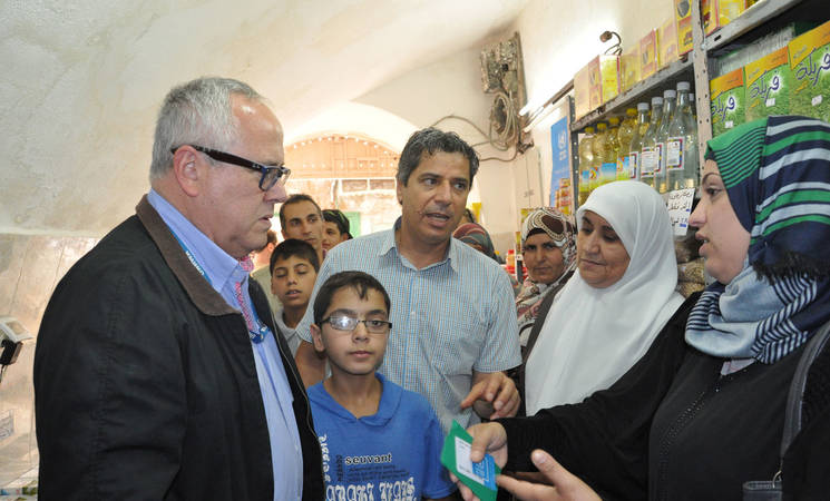 UNRWA and WFP Launch the UNRWA Food Voucher Program in Hebron Governate