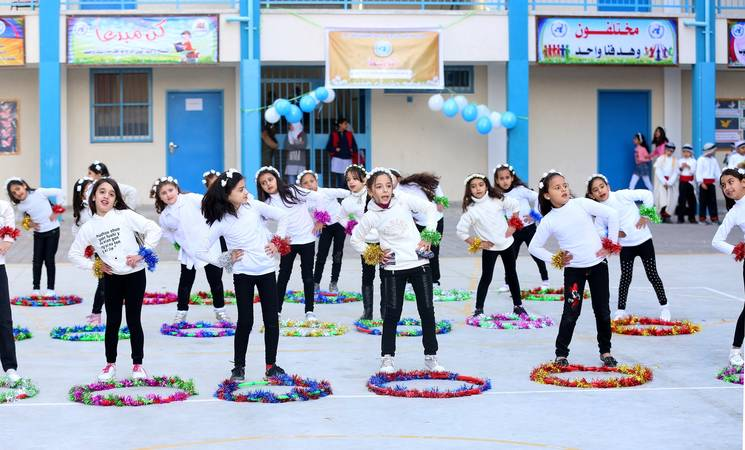 Recreational activity at UNRWA school © 2018 UNRWA Photo by Khalil Adwan.