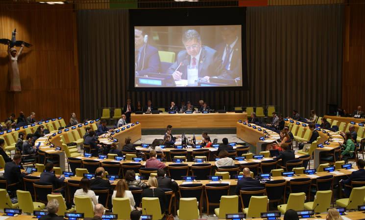 المؤتمر السنوي للتعهدات والذي عقدته الأونروا في نيويورك في 25 يونيو 2018. © صور الامم المتحدة.