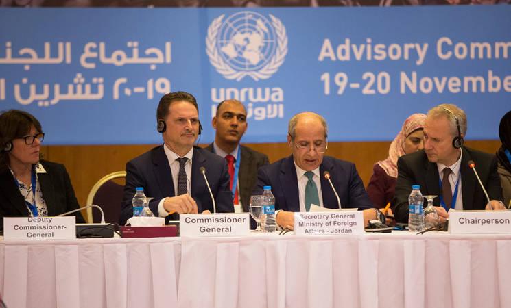 UNRWA Commissioner-General Pierre Krähenbühl addresses Advisory Commission delegates in Jordan 19-20 November  © 2018 UNRWA Photo by Marwan Baghdadi
