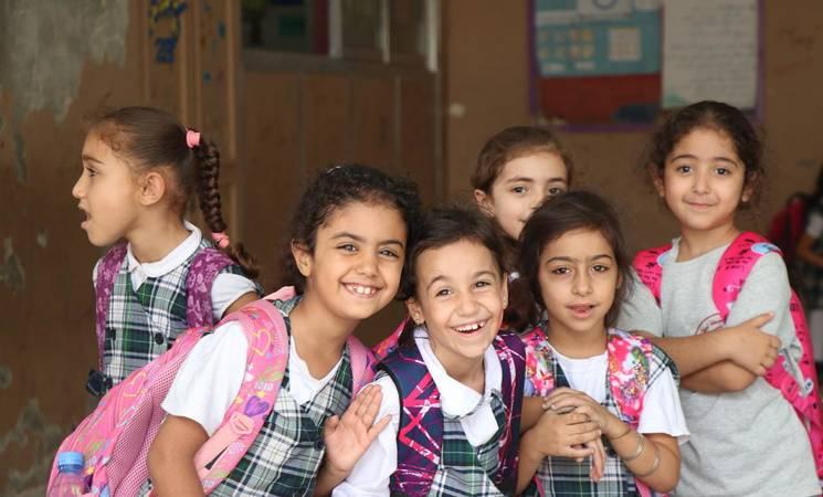 Students from Rafidia School for Girls, Lebanon © unrwa photo,Ahmad Mahmoud