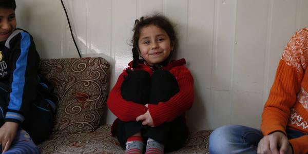 أطفال لاجئو فلسطين. الحقوق محفوظة للأونروا، 2015. تصوير أحمد الأمين.