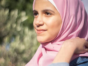 Israa al-Rifai, 15, is an UNRWA student at the UNRWA Shafa Amr School in Barzeh, Damascus. © 2020 Photo courtesy of Israa al-Rifai