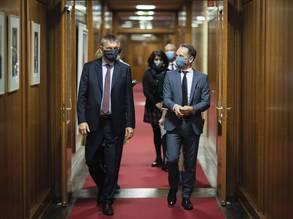 (من اليسار) المفوض العام للأونروا فيليب لازاريني مع سعادة د. هايكو ماس ، الوزير الاتحادي للشؤون الخارجية ، في وزارة الخارجية الألمانية الاتحادية في برلين ، ألمانيا. © 2020 تصوير Photothek.de/Thomas Trutschel