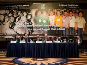 المفوض العام للأونروا للأونروا بيير كرينبول (الثاني من اليسار) يخاطب الاجتماع نصف السنوي الثاني للعام 2016 للجنة الاستشارية للأونروا الذي عقد في عمان. جميع الحقوق محفوظة للأونروا 2016، تصوير ميشيل هامرز