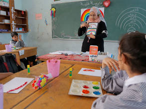 Students during class at one of UNRWA schools.  © 2017 UNRWA Photo by Rushdi Al-Saraj