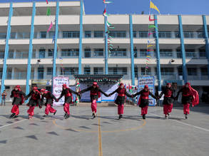 Inauguration ceremony for Rimal Preparatory Girls School in Gaza. © 2017 UNRWA Photo by Rushdi Al-Sarajj