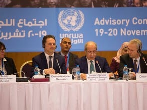 UNRWA Commissioner-General Pierre Krähenbühl addresses Advisory Commission delegates in Jordan 19-20 November © 2018 UNRWA Photo by Marwan Baghdadi