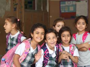 Students from Rafidia School for Girls, Lebanon © unrwa photo,Ahmad Mahmoud