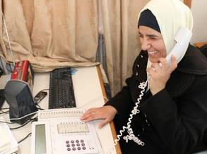 Alia Mohammed at work in the UNRWA Wadi Seer Training Centre in Amman, Jordan.  © 2019 UNRWA Photo by: Daniah Al-Batayneh