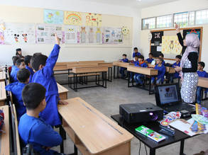 Students at the UNRWA al-Majdal-Haifa School in Damascus, Syria. © 2019 UNRWA Photo by Taghrid Mohammad.