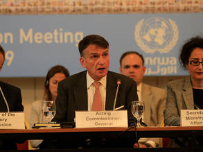 UNRWA Acting Commissioner-General Christian Saunders addresses the Advisory Commission to UNRWA in Jordan. © 2019 UNRWA photo by Marwan Baghdadi.