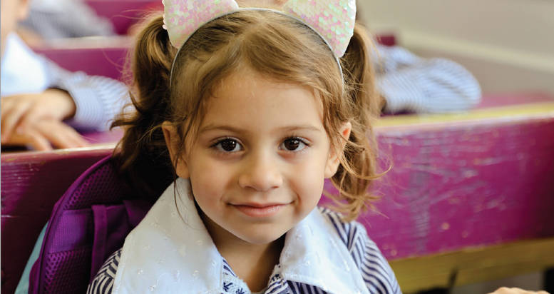 A student in class at the UNRWA Shu'fat Girls' School, East Jerusalem. © 2020 UNRWA Photo by Kazem Abu-Khalaf