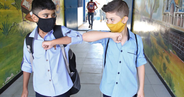UNRWA is implementing COVID-19 preventative measures in its schools across Syria to keep students, teachers and their communities safe while providing quality education. ©2020 UNRWA photo by Taghrid Mohammad.