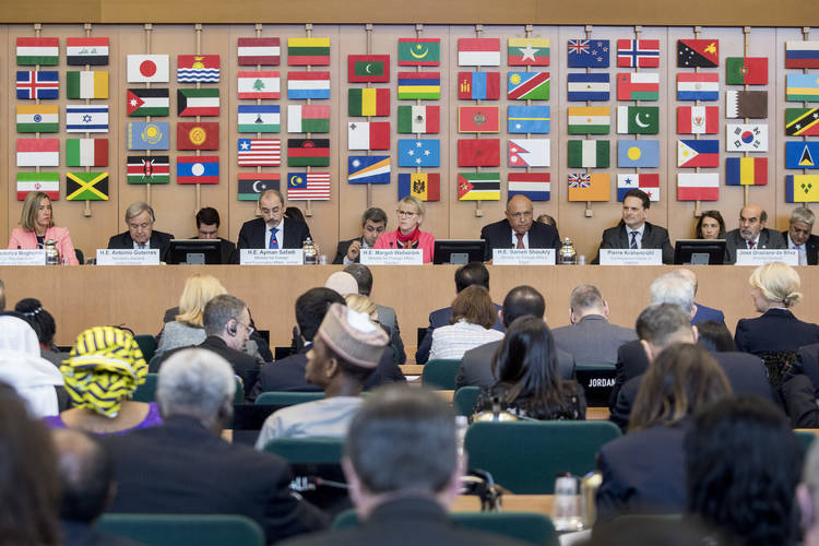 15 March 2018, Rome, Italy: UNRWA Extraordinary Ministerial Conference. FAO Headquarters.©FAO