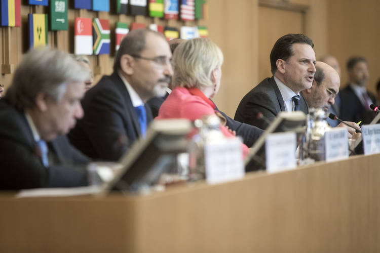 15 March 2018, Rome, Italy: UNRWA Extraordinary Ministerial Conference. FAO Headquarters.Copyright ©FAO