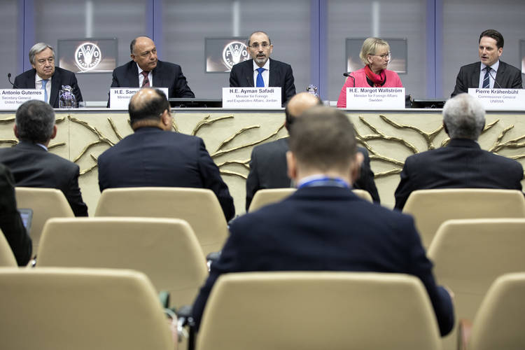 15 March 2018, Rome, Italy: UNRWA Extraordinary Ministerial Conference. FAO Headquarters. ©FAO