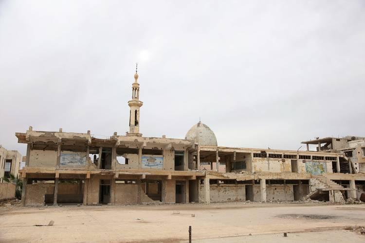 تأثرت كافة منشآت الأونروا في درعا جراء النزاع. الحقوق محفوظة للأونروا، 2018.