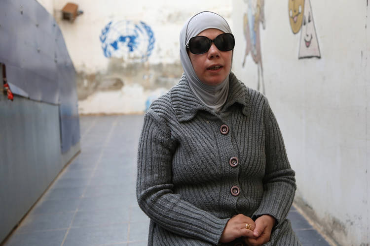 Khadija Tabasha was encouraged to develop her passion for music by an UNRWA social worker. She will be singing during the International Day of Persons with Disabilities at the Cultural Centre in Dera'a. © 2018 UNRWA