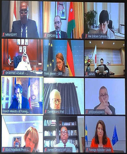 Host and donor countries hold the second Ministerial Strategic Dialogue on UNRWA via video conference. © 2020 UNRWA photo.