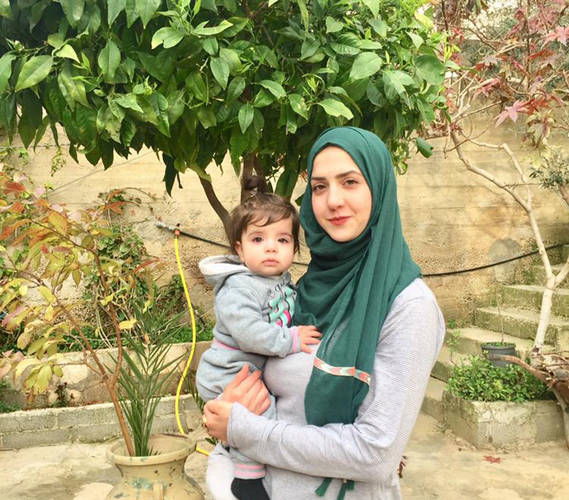 Sajida Allan, 26, and her 6-month-old daughter Lea.