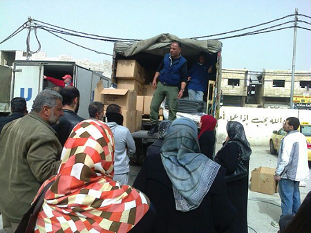 Picture: NFI Arrival Kits Distribution, Irbid, March 2014