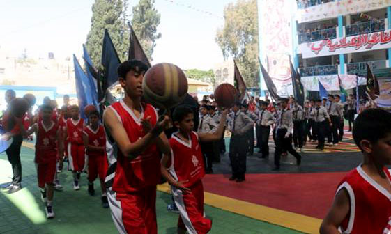 The Dubai Cares donation supported this closing ceremony on the occasion of the end of the last scholastic year. Approximately 600 UNRWA students participated and many senior leaders of the community and UNRWA staff attended the festival in Maghazi Prep School, Gaza. © 2015 UNRWA Photo