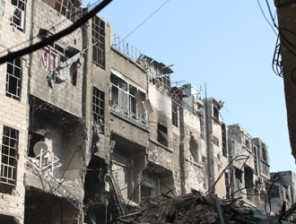 The destroyed streets of Yarmouk. ©UNRWA.