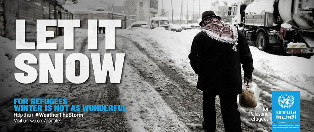 Help Palestine refugees #weatherthestorm