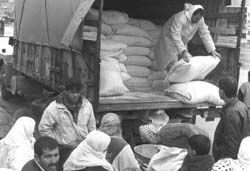 Archive photo of food distribution