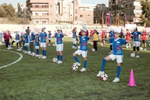 New Football Pitch Inaugurated in Syria's Yarmouk Camp