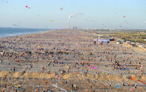 Kite-flying success on Gaza beach