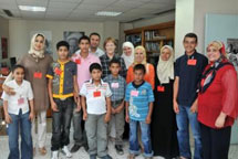 Gazan children meet UNRWA Commissioner General